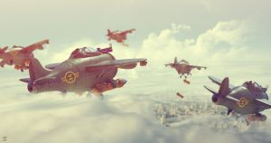 Bombers flock by DeviArTZ