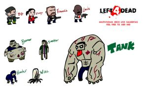 Left 4 Dead chibi's by Matevus