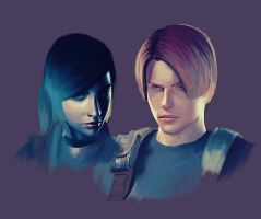 Claire and Leon -WIP- by AnEndlessVanity