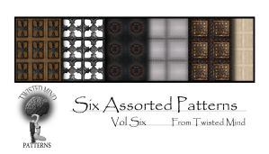 Twisted Mind Six Assorted Patterns Vol Six by Textures-and-More