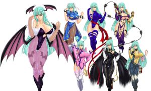 Various changes of morrigan by marchinx1