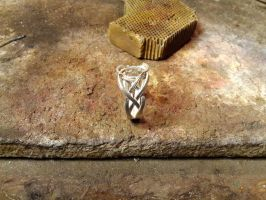 Elven silver ring wip 4 by Debals