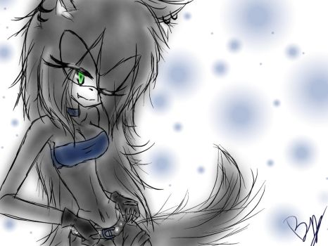 Gaby~Ookami The Wolf by gabriela-the-wolf