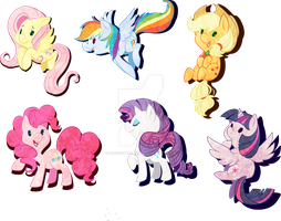 Pony stickers by Mangopoptart
