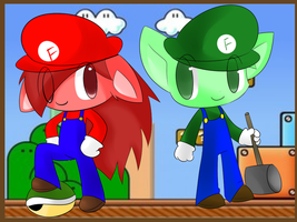 HTFxMario crossover LOL by chibitracy