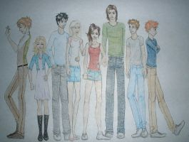 Vampire Academy gang by xXexplodingrosesXx