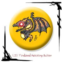 Fireblood Hatchling Button by BunnyBennett