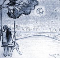 As They Watch the City Skyline by blobjelly