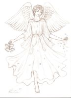 Sketch Easter angel by DreamyNaria
