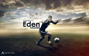 7# Eden Hazard - Wallpaper by AA-Designs