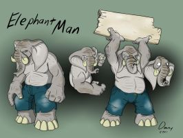 Elephant Man by Omny87