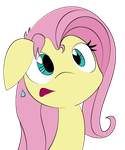INKED Fluttershy Portrait Colored by tyler611