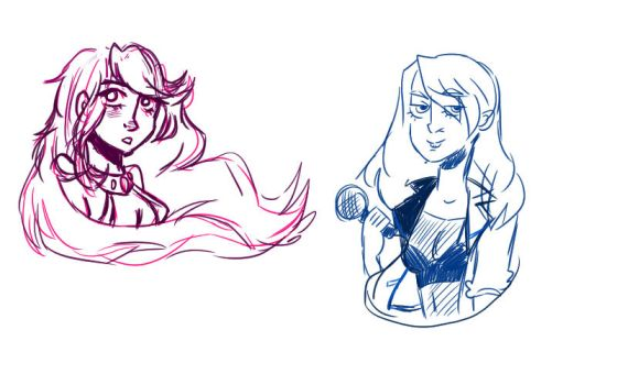 sketches of DC gals (WIP) by kachikoi