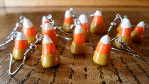 Candy Corn Earrings by Pinkiebel