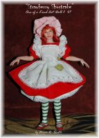 MY Strawberry OOAK Doll by noe6