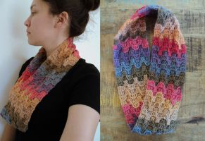 Prairie Sunset Scarf by Brookette