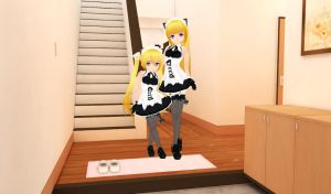 3DCG - Maid Family by smileybeat