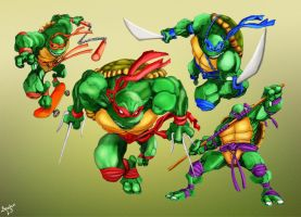 Ninja Turtles by Imperf3ction