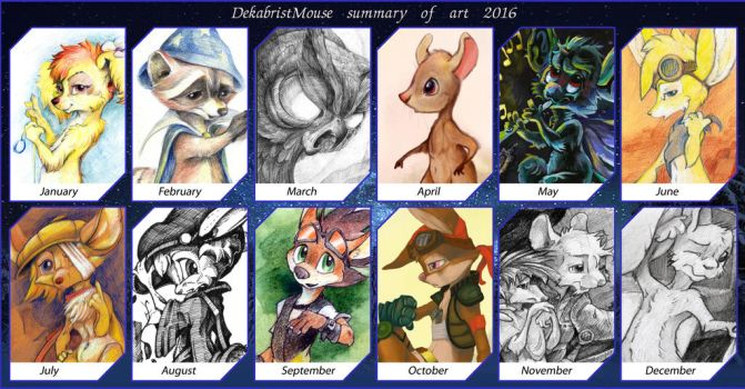 Summary of art 2016 by DekabristMouse