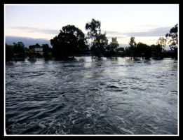 The Wimmera River Holds On by angelfunkstudio