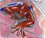 Spider Man wall climb by soulblade35