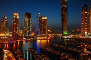 HDR Dubai Marina Night view by vinayan