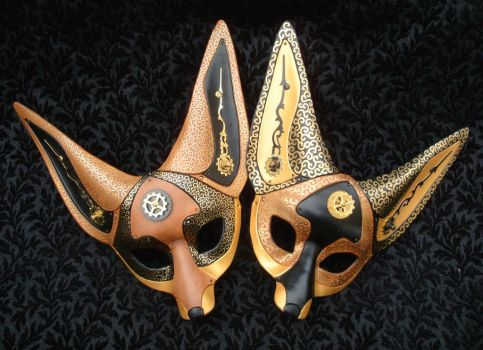 Clockwork Fennec Fox Masks 1 and 2 by merimask