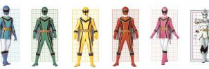 Mystic Force Power Rangers by planeteer1988