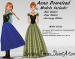 {MMD DOWNLOAD} Anna (Casual + Coronation) by SanctuarysEmbrace