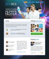 Science Web Design by lKaos