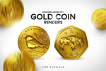 Free Gold Coin Renders Pack by DesignerCandies