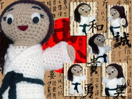Martial Arts Girl - Amigurumi by Lady-Nocturna