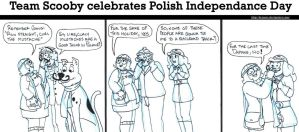 Team Scooby celebrates Polish Independance Day by brensey
