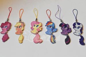 Pony Tail Chibi Charms by Left2Fail