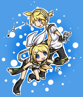 Len and Rin Kagamine: Musical by Sarucho