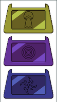 Dark Digimon Crests by Wooded-Wolf