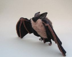 Felted little brown bat by creturfetur
