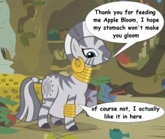 Zecora ate Apple Bloom by VoreEditer