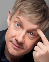 Martin Freeman finger by MarinaSchiffer