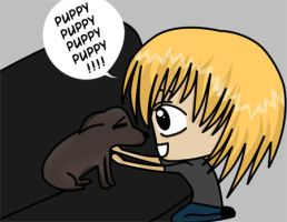 he likes dogs? by Paoru