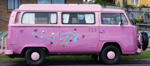 COMBIE VAN-awesome pink by scratzilla