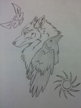 Wolf and Raven by KayHiggins13
