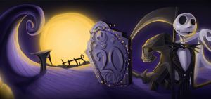 GoogleDoodle - 20 Years of Tim Burton's TNBC! GIF! by Hugo-H2P