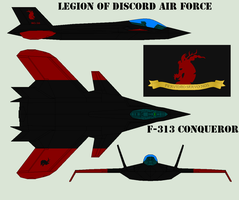 Legion of Discord Air Force F-313 Conqueror by Zhanrae30
