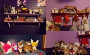 My complete fox collection by Kitsune-Klepto