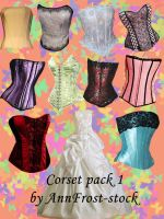 Corset pack I by AnnFrost-stock