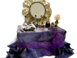 Miniature dressing table 1:12 scale by NantiaArt