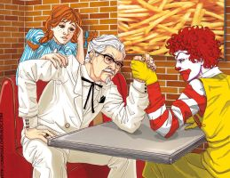 Fast food battle by LOTTECHAR