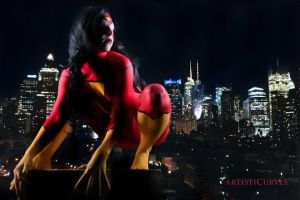 Spiderwoman body paint by shelle-chii
