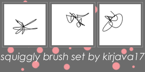Squiggly Brush Set by kirjava17